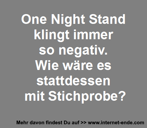 One Night Stand Stichprobe