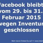 Facebook wird geschlossen