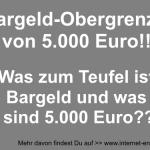 Bargeld-Obergrenze