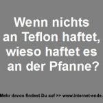 Teflon haftet an Pfanne