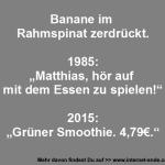 Banane im Rahmspinat
