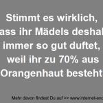 Mädels und Orangenhaut