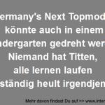 Germany's Next Topmodel im Kindergarten