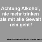 Angemessener Verzehr von Alkohol