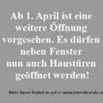 Ab 1. April ist eine  weitere Öffnung  vorgesehen