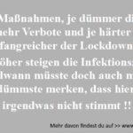 Lockdown und die Infektionszahlen
